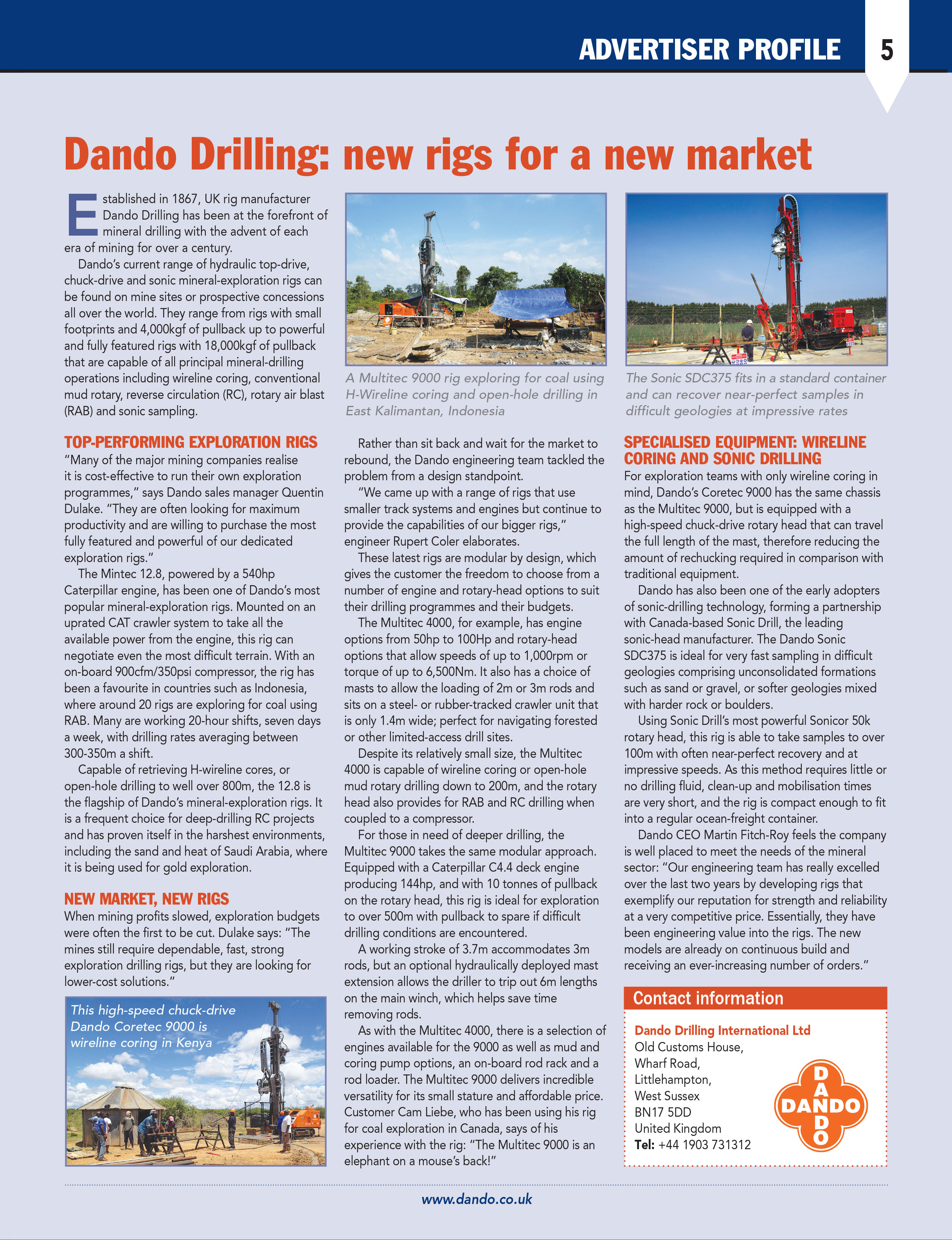 Sonic Drilling Rigs – Multipurpose Drilling Rigs   Dando